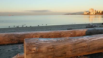 Ambleside Beach Winter Dawn, West Vancouver