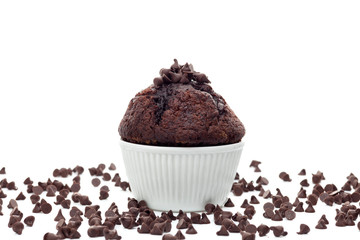 Muffin with chocolate chips