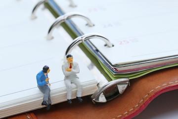 ビジネス手帳とビジネスマン