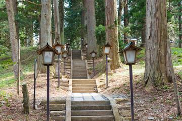The approach to the Shirakawa shrine