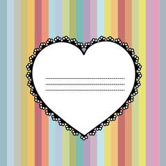 Invitation card with heart vector