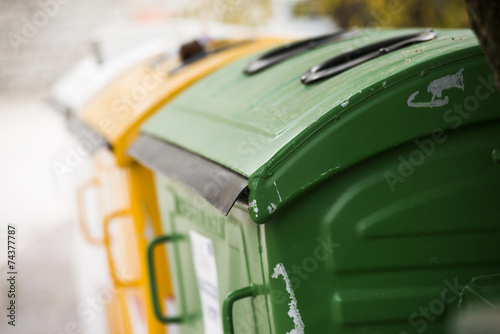city trash cans - 74377787