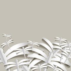 бумажные серые стрекозы на сером фоне