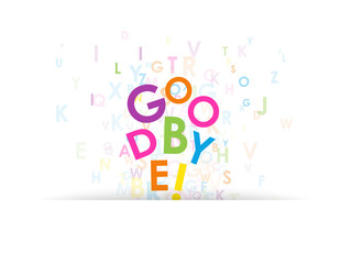 """GOODBYE"" Letter Collage (farewell card good luck travel)"