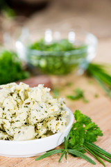 Portion of Herb Butter