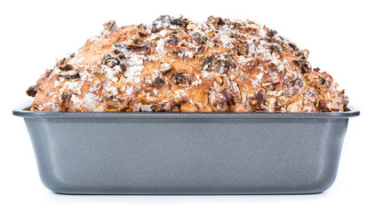 Walnut Bread (isolated on white)