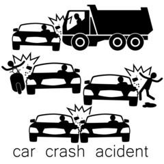 Black Car crash Side collision
