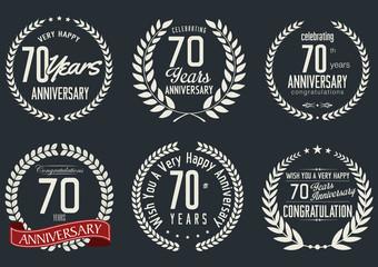 Anniversary laurel wreath design, 70 years