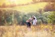 Leinwanddruck Bild - Family enjoying life together outside
