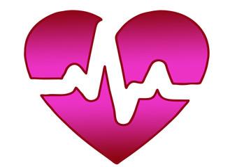 心電図のイメージ