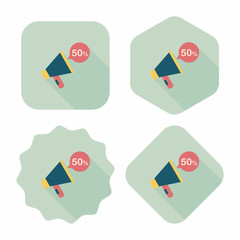 shopping sale announcement flat icon with long shadow,eps10