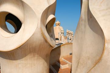 La Pedrera at Barcelona was designed by Antoni Gaudi
