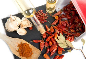 ingredients for spicy sauce