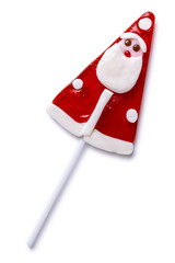 Christmas lollipop isolated on a white background