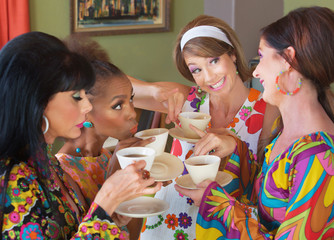 Women Smiling With Tea