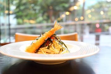 Japanese pasta Mentaiko spaghetti