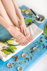 Legs care in spa