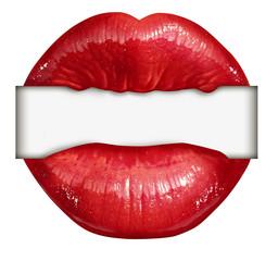 Lips Blank Sign