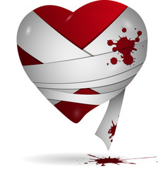 Heart in bandages