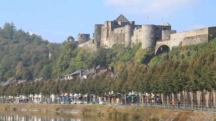 Panorama of Bouillon castle, Belgium
