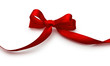Red bow with shadow on a white background