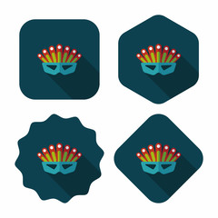 party mask flat icon with long shadow,eps10
