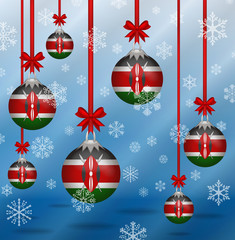 Christmas background flags Kenya