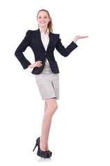 Woman businesswoman isolated on the white