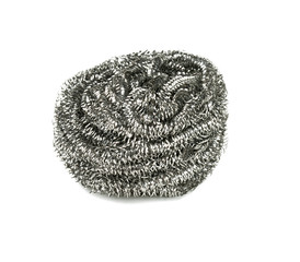 metal sponge isolated on white