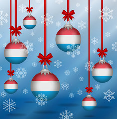 Christmas background flags Luxembourg