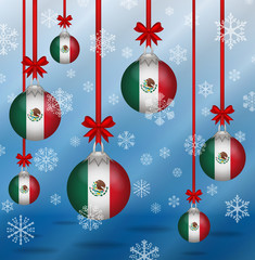 Christmas background flags Mexico