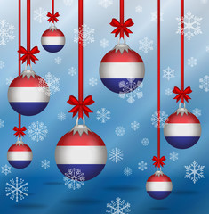 Christmas background flags Netherlands
