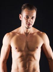 Man with perfect abdomen