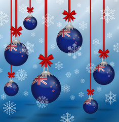 Christmas background flags New Zealand
