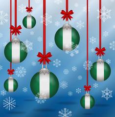 Christmas background flags Nigeria