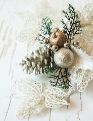 Silver Decoration for Christmas Tree