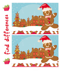 Find differences -  Gingerbread santa