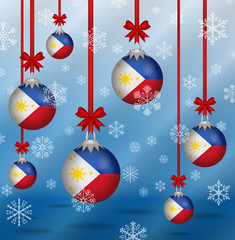 Christmas background flags Philippines