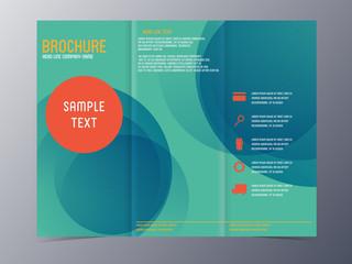 modern blue green brochure template
