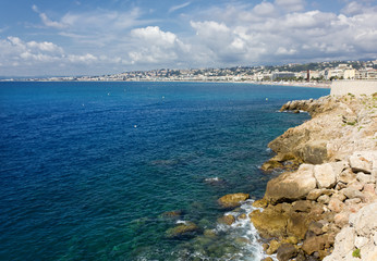 Mediterranean Sea in front of Nice, France