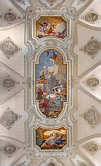 Venice - Ceiling fresco from church Santa Maria del Rosario