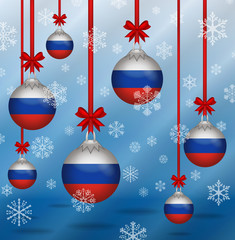 Christmas background flags Russia