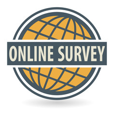 Abstract stamp or label with the text Online Survey