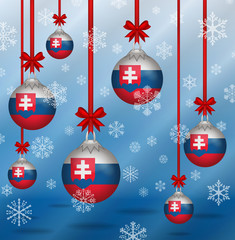 Christmas background flags Slovakia