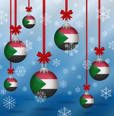 Christmas background flags Sudan