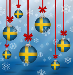 Christmas background flags Sweden