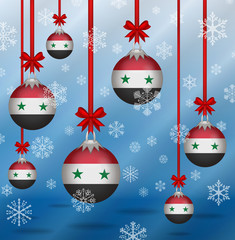 Christmas background flags Syria
