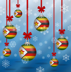Christmas background flags Zimbabwe