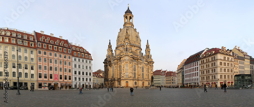 canvas print picture Dresden Frauenkirche in Dresden, Germany
