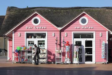 Kleiner Laden im Hafen von List auf Sylt